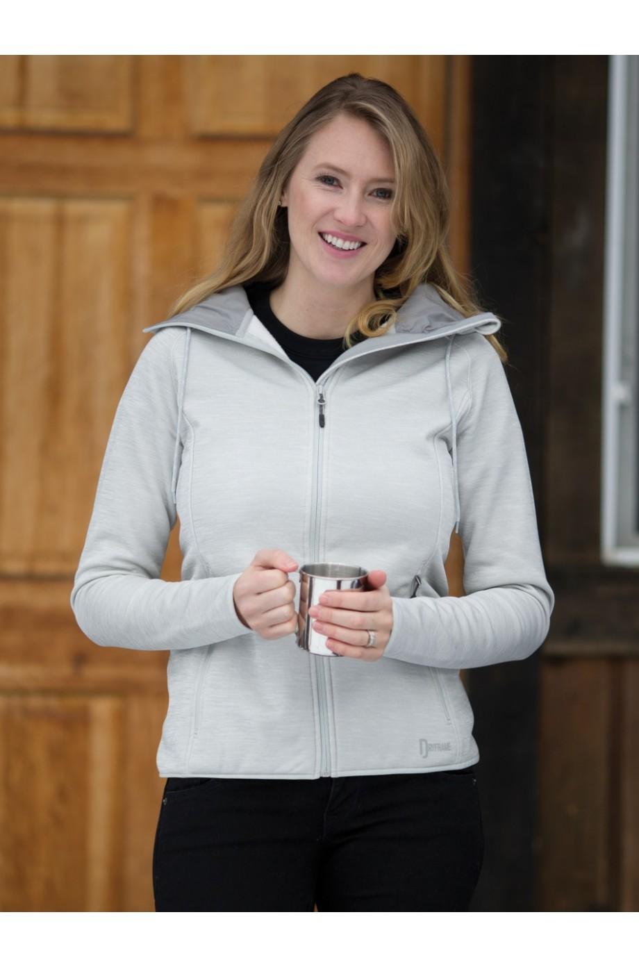 c698bf2fd208 dryframe® dry tech fleece full zip hooded ladies  jacket. df7655l