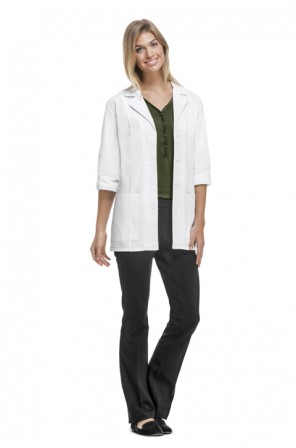 "Antimicrobial 30"" 3/4 Sleeve Lab Coat- 1470A"