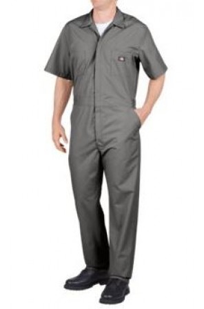 Short Sleeve Coverall- 33999-Grey