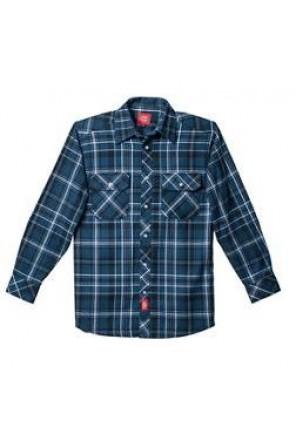 Long Sleeve Button Flannel Shirt- D14099-Blue