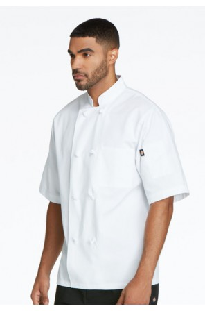 Classic Knot Button Chef Coat S/S- DC48