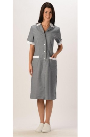 Checkered Button Front Dress- DMR