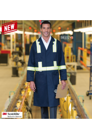 Shop Coat with 2″ Reflective Tape- S8102YS